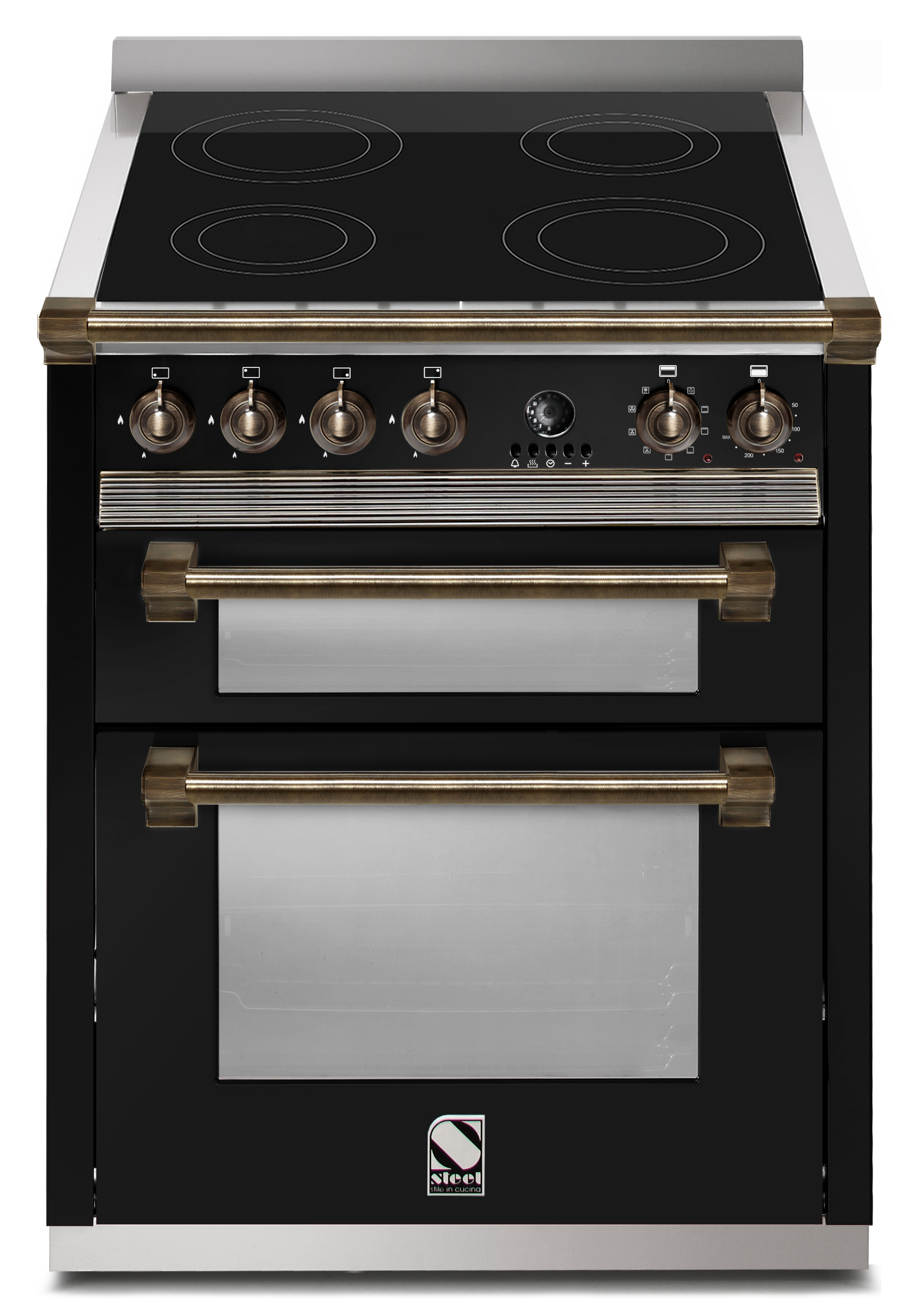 steel ascot multifunction 70 cm 2 ugnar induktion range cookers fr n. Black Bedroom Furniture Sets. Home Design Ideas